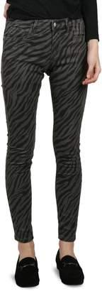 Molly Bracken Zebra-Print Skinny Pants