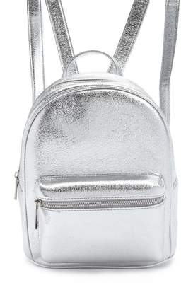 Forever 21 Faux Leather Metallic Backpack