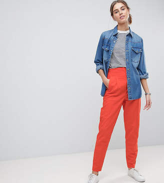 Asos Tall TALL Tailored Clean High Waist Linen Peg Pants