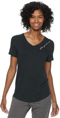87b7061f480e9 Sonoma Goods For Life Women s SONOMA Goods for Life Essential V-Neck Pajama  Tee