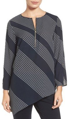Women's Chaus Mixed Media Stripe Top $69 thestylecure.com