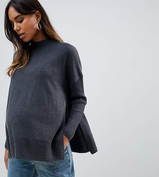 Asos (エイソス) - ASOS Maternity - Nursing ASOS DESIGN Maternity Nursing eco boxy sweater with ripple hem