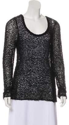 Rag & Bone Semi-Sheer Wool-Blend Sweater