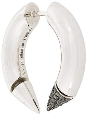 Asherali Knopfer 18kt 'Spike' Weißgoldohrring mit schwarzen Diamanten