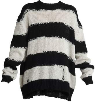 Acne Studios Katona Distressed Stripe Sweater