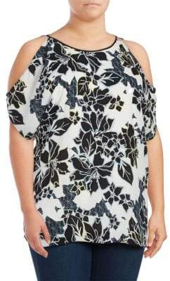 Vince Camuto Floral Cold-Shoulder Tunic