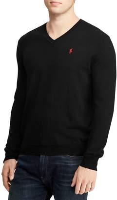 Polo Ralph Lauren V-Neck Merino Wool Sweater