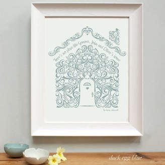 birdyhome Personalised New Home Framed Print