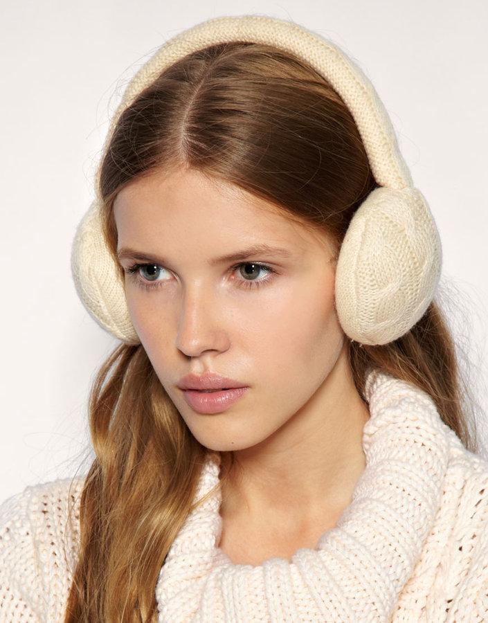 MANGO Ohr Cable Knit Earmuffs