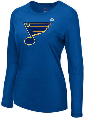 Majestic Women St. Louis Blues Primary Logo Long Sleeve T-Shirt