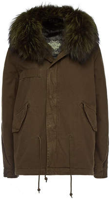 Mr & Mrs Italy Cotton Parka with Fur-Trimmed Hood and Lining