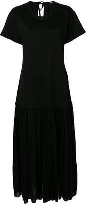 Jil Sander Navy T-shirt drape dress