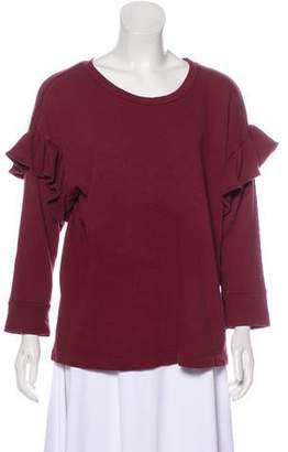 Current/Elliott Ruffle-Accented Sweatshirt
