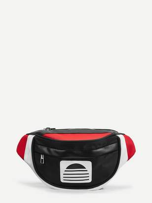 Shein Color-Block Zipper Fanny Pack
