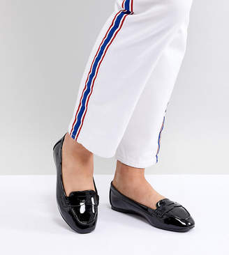 New Look Wide Fit Patent Loafer