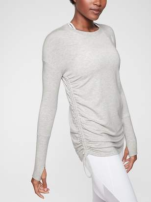 Athleta Drishti Ruched Sweatshirt