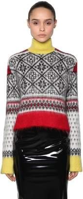 N°21 Wool Jacquard Sweater W/ Sequin Fringe