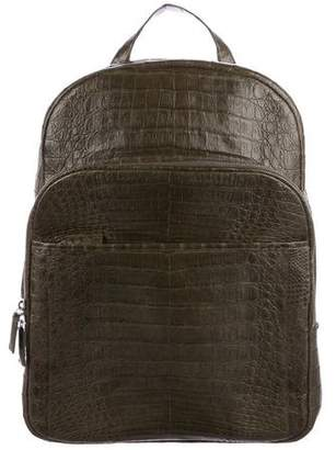 Santiago Gonzalez 2017 Crocodile Suede-Lined Backpack