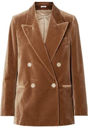 Acne Studios Double-breasted Cotton-velvet Blazer