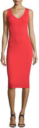 MICHAEL Michael Kors Sleeveless V-Neck Ribbed Sweater Dress $175 thestylecure.com