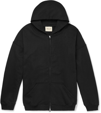 Fear Of God Oversized Loopback Cotton-Jersey Zip-Up Hoodie - Men - Black