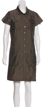 Burberry Two-Tone Button-Up Dress