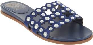 Vince Camuto Leather Studded Slide Sandals - Ellanna