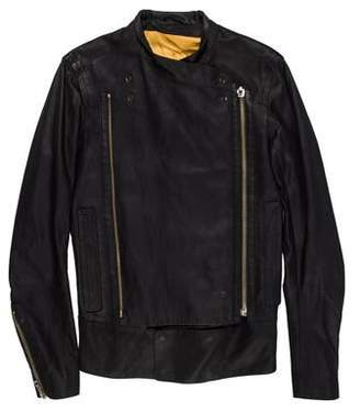 Ann Demeulemeester Leather Zip Jacket