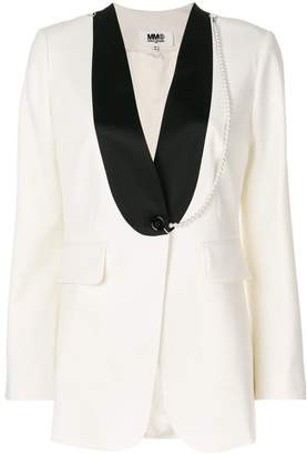 MM6 MAISON MARGIELA contrast suit jacket