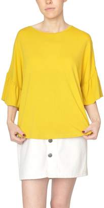 Just Female Yellow Ruffle Top