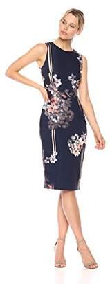 Adrianna Papell Women's Linear Garden Printed Sheath Dress