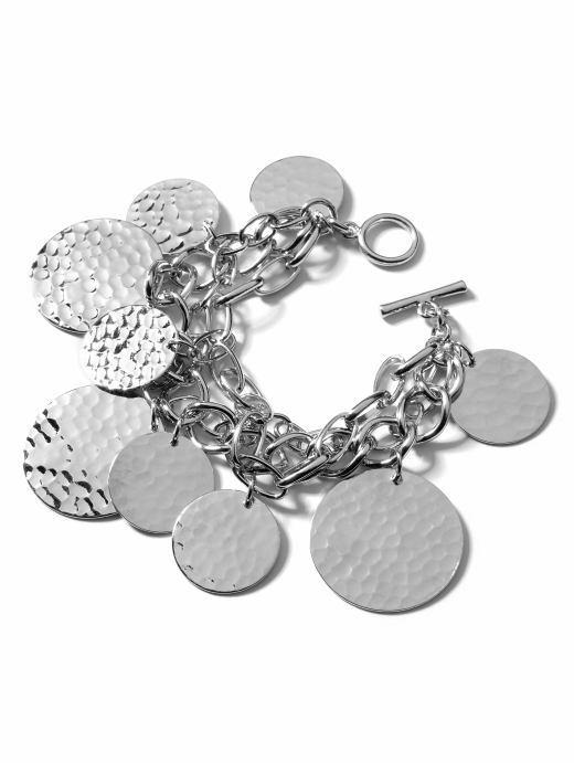 Hammered coin bracelet