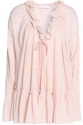 See by Chloe Ruffle-trimmed Gauze Blouse