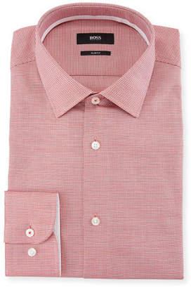 BOSS Slim Fit Textured Cotton Dress Shirt