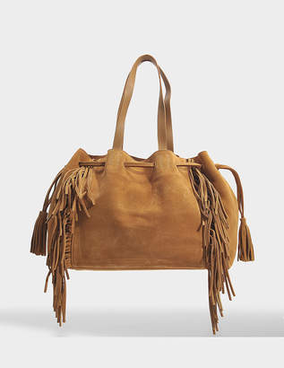 Gerard Darel Simple 2 Bis Fun Tote Bag in Tan Leather