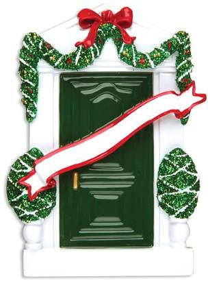 Personalized by Santa Home Door Shaped Ornament