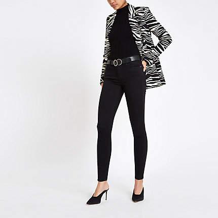 Womens Black Rl Amelie mid rise skinny jeans