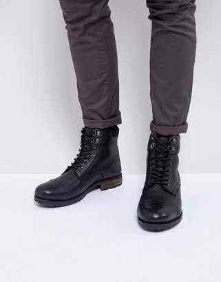Kurt Geiger London Rayn Lace Up Boots In Black