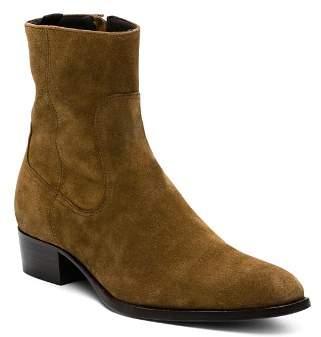 The Kooples Men's Suede Almond-Toe Boots