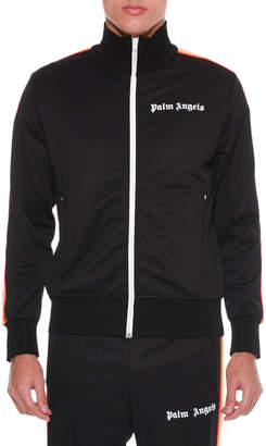 Palm Angels Men's Rainbow Zip-Front Track Jacket