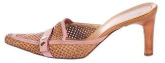 Casadei Woven Leather Mules