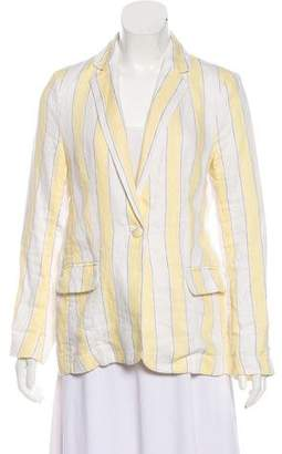 Frame Linen Patterned Blazer