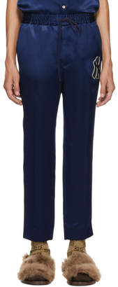 Gucci Blue NY Yankees Edition Patch Lounge Pants