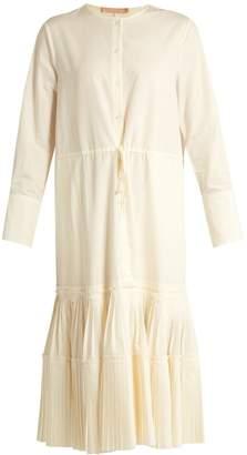 Brock Collection Dorraine pleated-panel cotton-blend midi dress