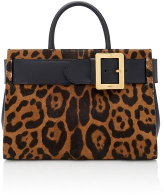 Bally Leather-Paneled Leopard-Print Calf Hair Shoulder Bag $2,295 thestylecure.com