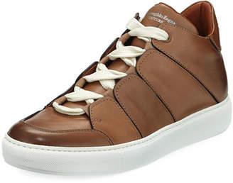 Ermenegildo Zegna Tiziano Leather Low-Top Sneaker