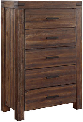 Modus Designs Furniture Meadow Five Drawer Solid Wood Chest