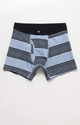 Richer Poorer Thurston Stripe Blue & Black Cotton Boxer