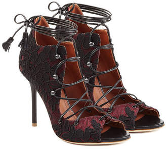 Malone Souliers Lace-Up Sandals with Lace