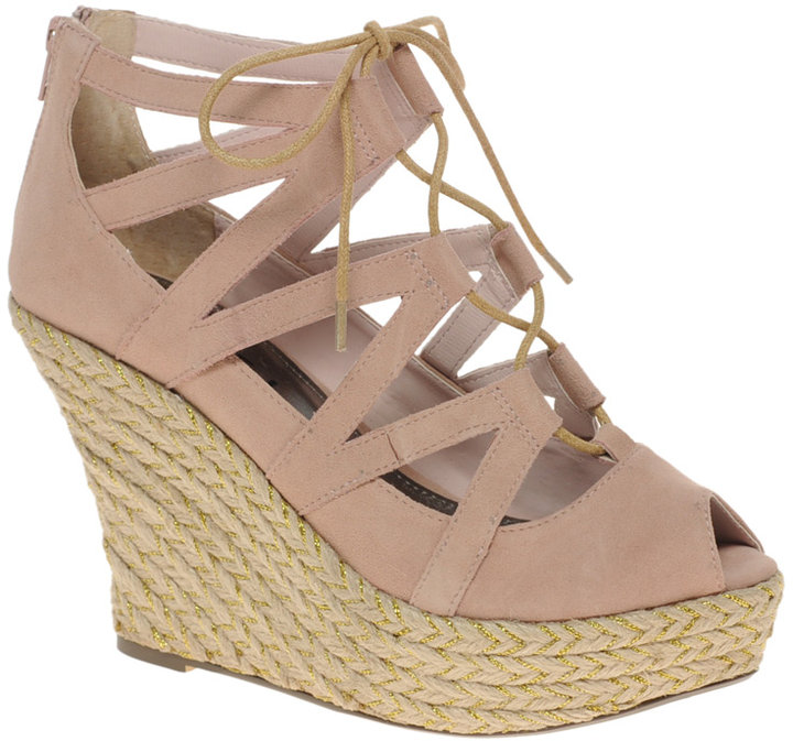 Ravel Lace Up Espradrille Wedge Shoe